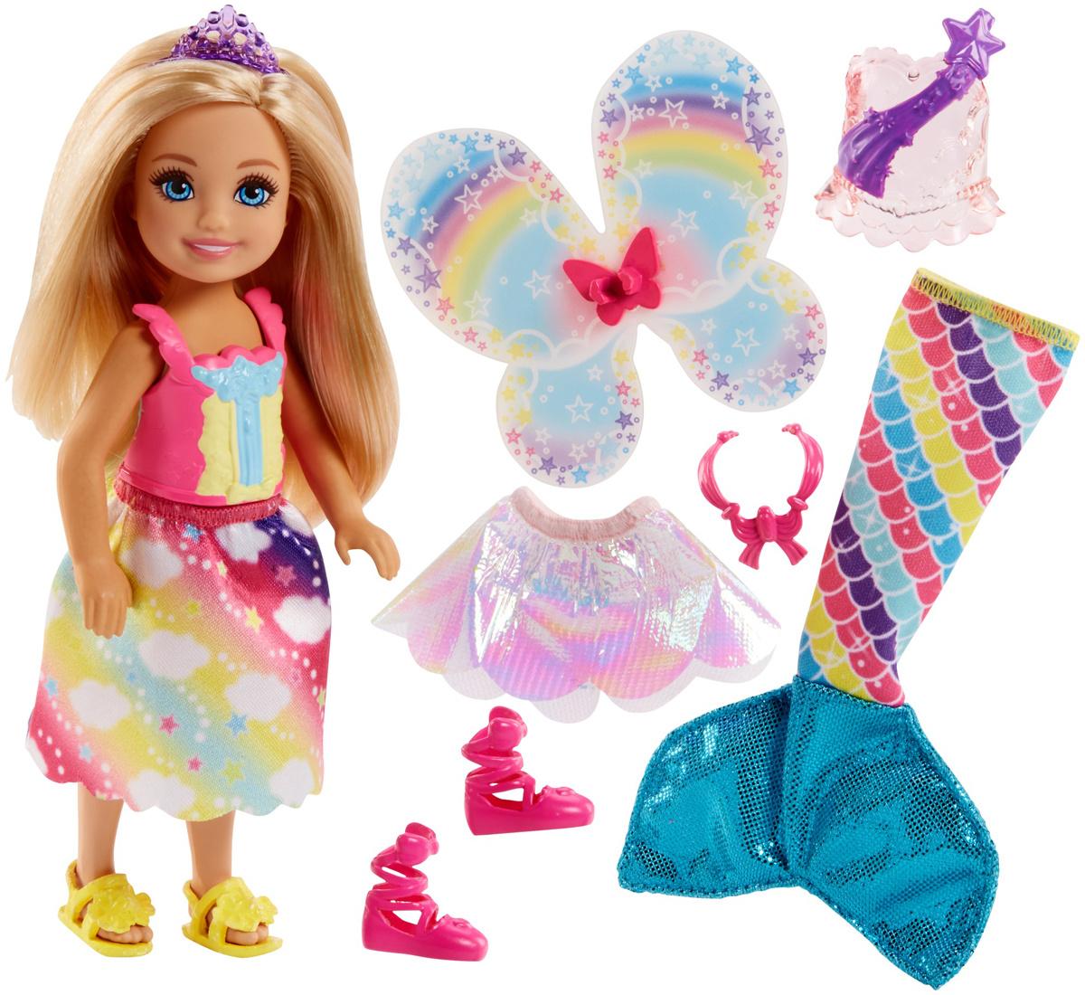 Кукла Barbie Челси фея русалка Блондинка FJD00 #1