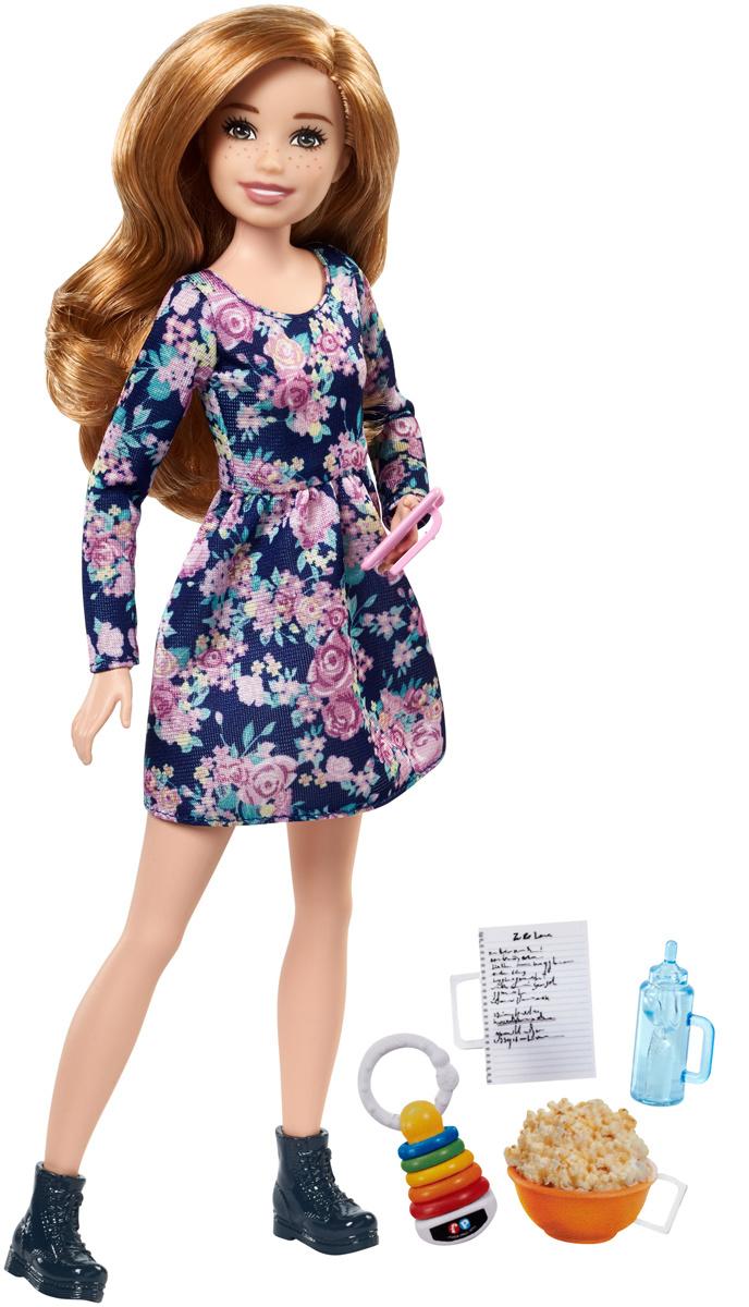 Кукла Barbie Семья Няня Скиппер Шатенка с попкорном FHY90 #1