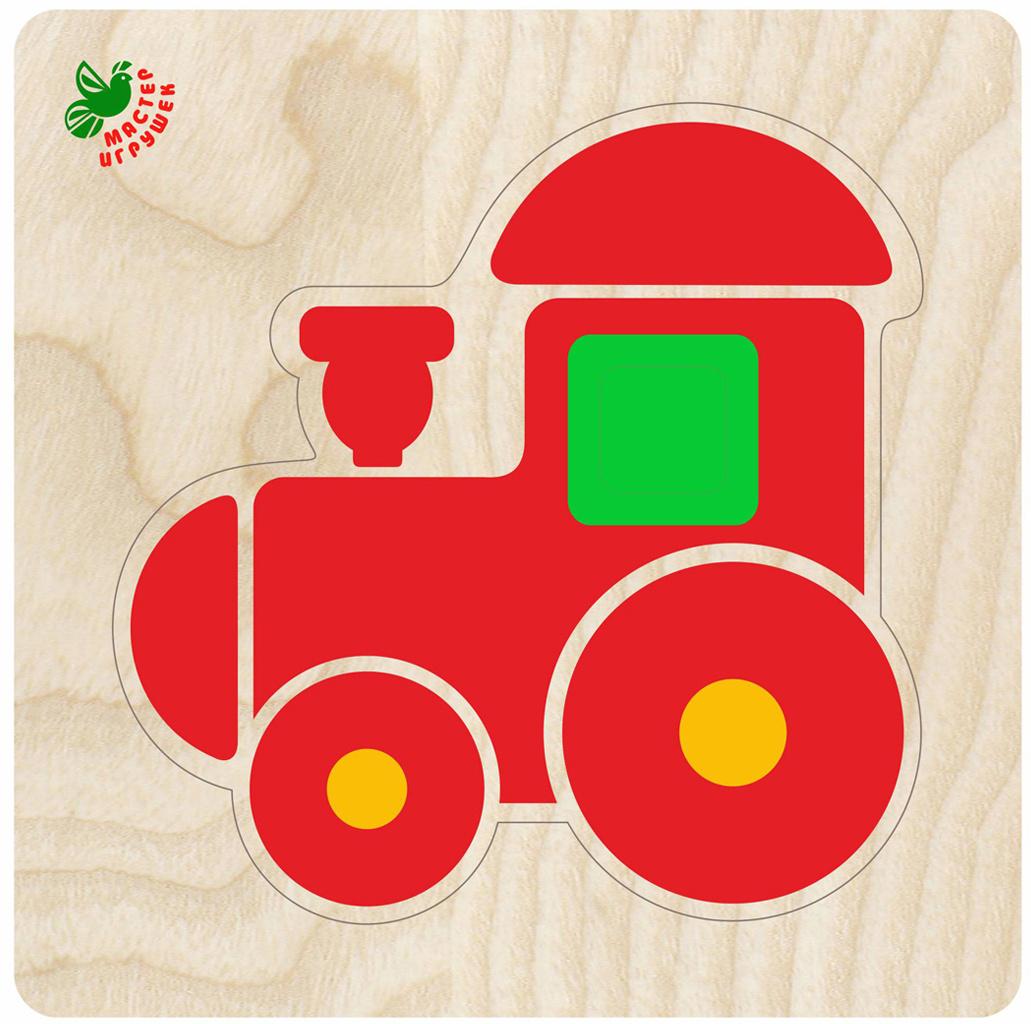 Фабрика Мастер игрушек Рамка-вкладыш Пирамидка-паровозик  #1