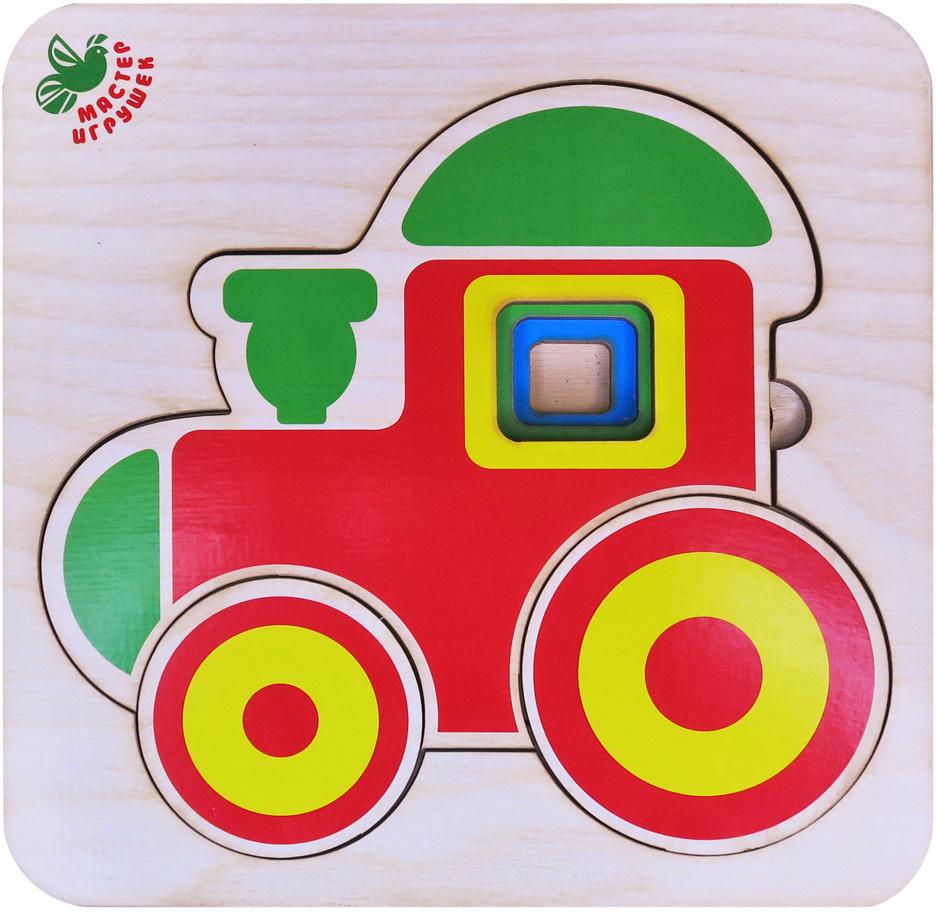 Фабрика Мастер игрушек Пазл многоуровневый Паровозик #1