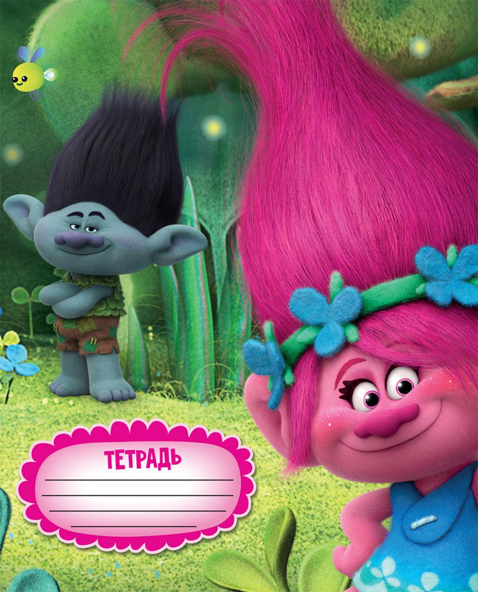 Trolls Тетрадь Trolls 18 листов в линейку цвет зеленый голубой розовый формат A5  #1