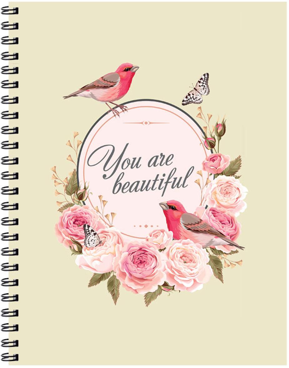 Expert Complete Тетрадь Compliment Vintage 96 листов цвет светло-бежевый розовый формат A5  #1