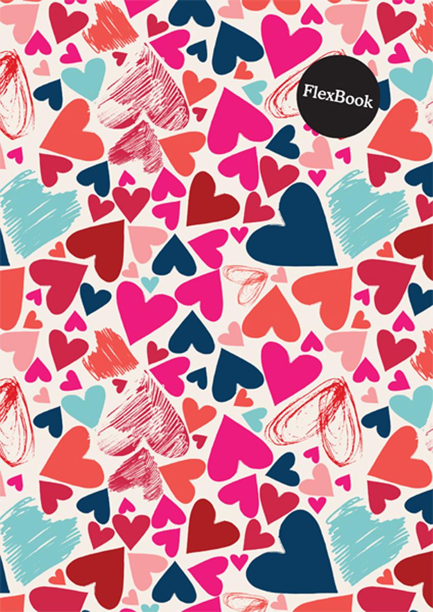 Expert Complete Тетрадь Hearts 80 листов в клетку цвет розовый формат A4  #1