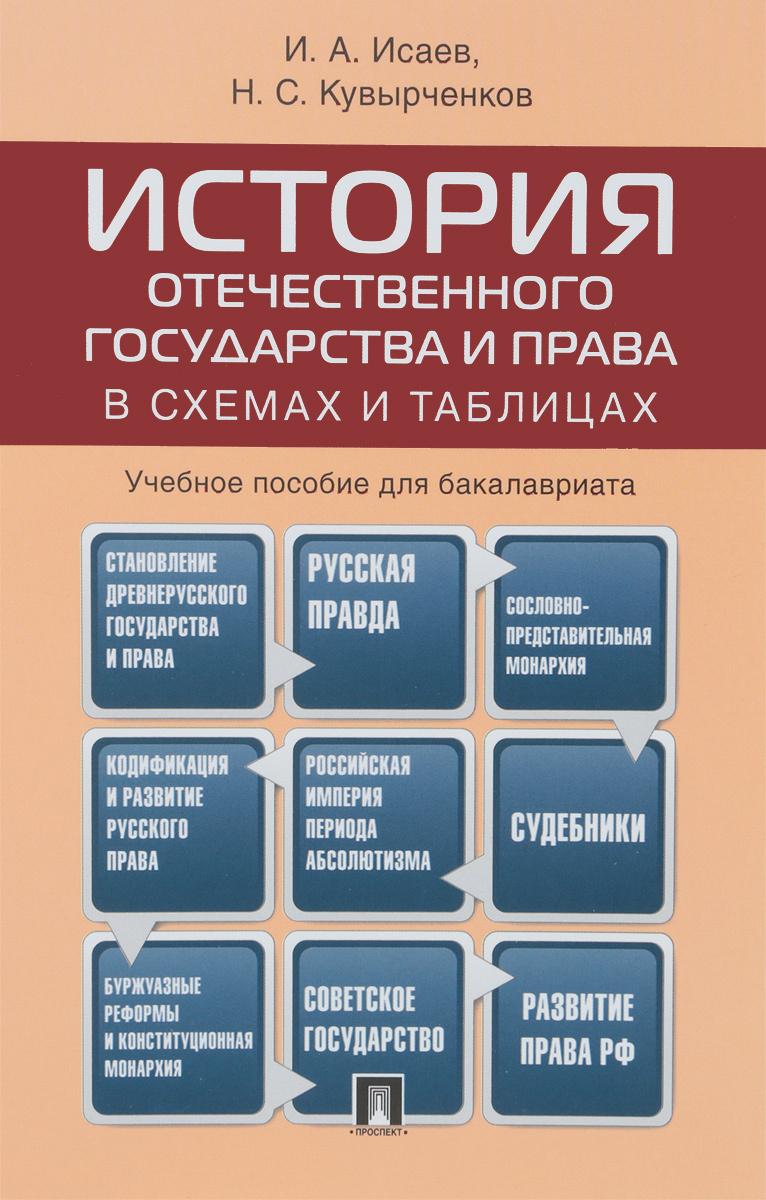 История отечественного государства и права в схемах и таблицах. Учебное пособие для бакалавриата   Кувырченков #1