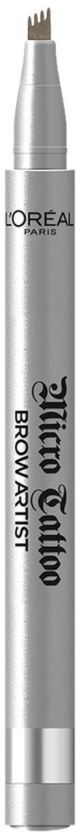 """L'Oreal Paris Лайнер для бровей """"Brow Artist Micro Tattoo"""", оттенок 105, Брюнет  #1"""