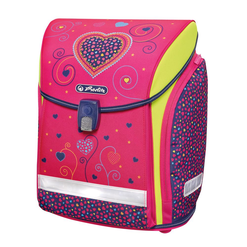 aefeb6e9c2f2 Herlitz Ранец школьный Midi New Pink Hearts — купить в интернет-магазине  OZON.ru с быстрой доставкой