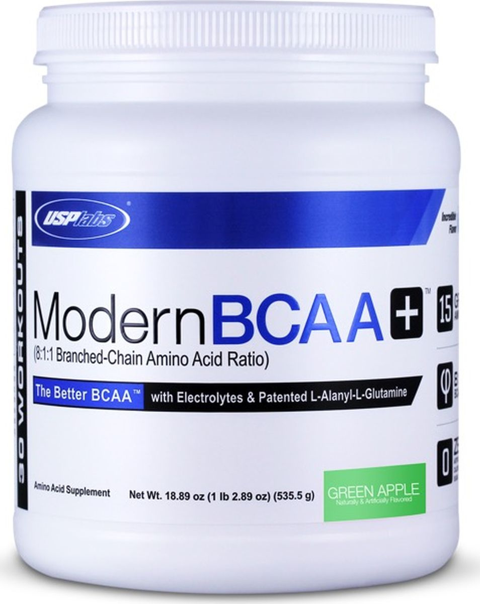 """Комплекс аминокислот USPlabs """"Modern BCAA+ """", зеленое яблоко, 535 г #1"""
