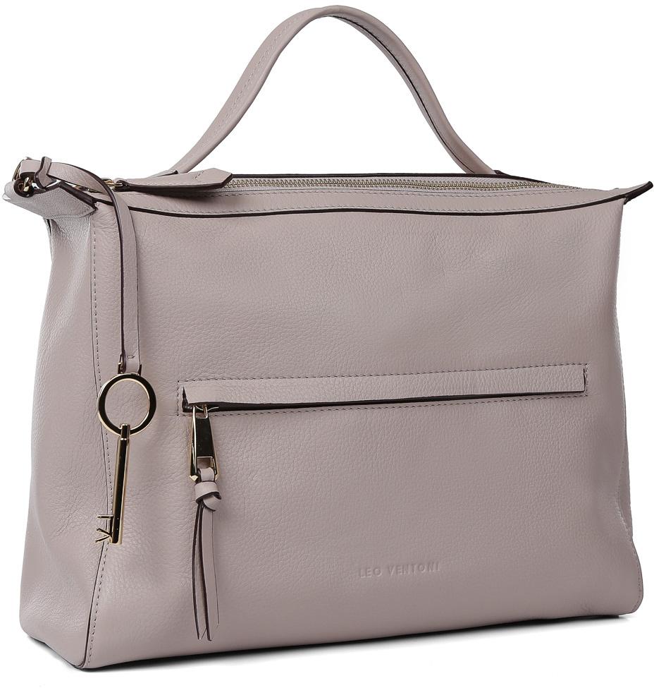 f63e2897fee6 Сумка женская Leo Ventoni, цвет: серый. 23004518-grey — купить в  интернет-магазине OZON.ru с быстрой доставкой