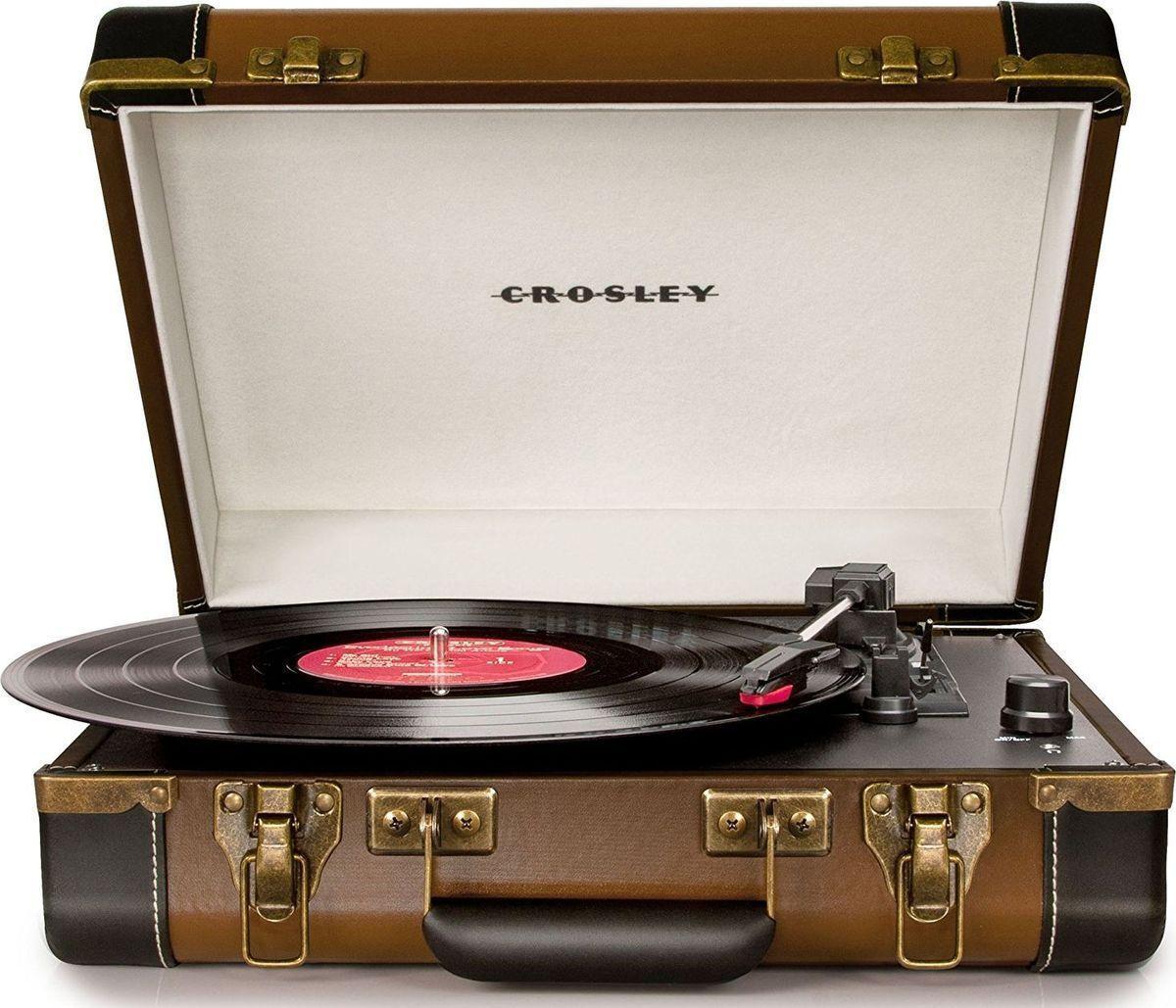 Проигрыватель виниловых дисков Crosley Executive Deluxe, коричневый, белый  #1