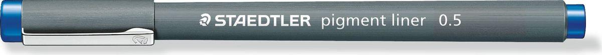 Staedtler Ручка капиллярная Pigment Liner 308 0,5 мм цвет чернил синий  #1