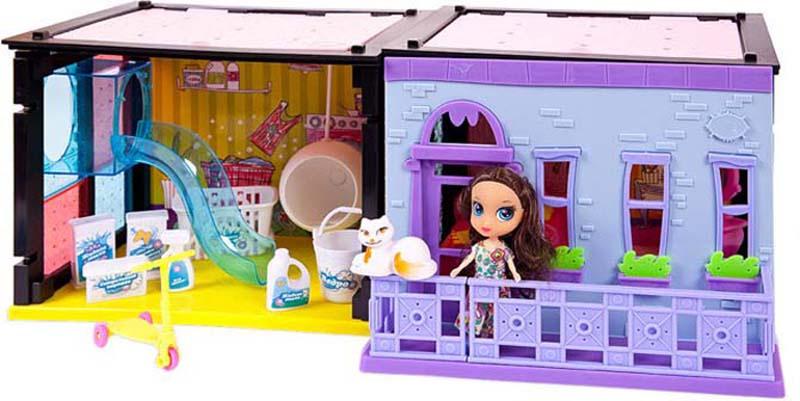 ABtoys Игровой набор с куклой Модный дом Спальня и прачечная 70 деталей  #1