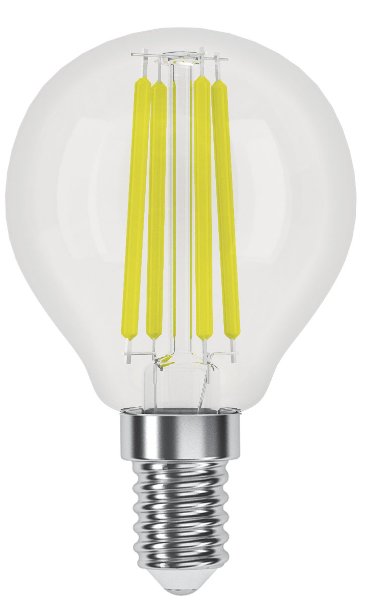 Лампочка Фотон Лампа светодиодная филаментная ФОТОН LED FL P45 4W E14 3000K, Теплый белый свет, E14, #1