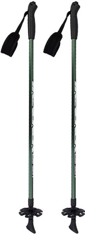 """Палки для скандинавской ходьбы Larsen """"Tracker"""", двухсекционные, цвет: темно-зеленый, черный, длина 90-135 #1"""