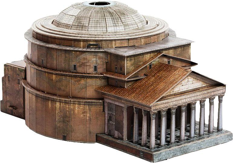 Умная Бумага Сборная модель Римский Пантеон #1