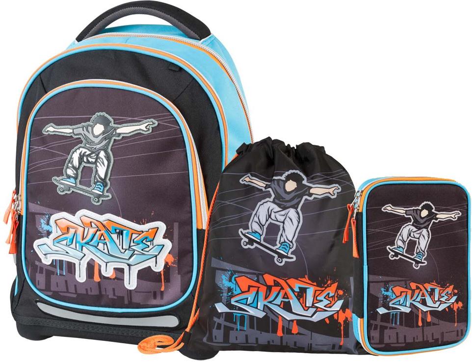 71556d27bf36 Target Collection Ранец школьный Скейтер 4 в 1 — купить в интернет-магазине  OZON.ru с быстрой доставкой
