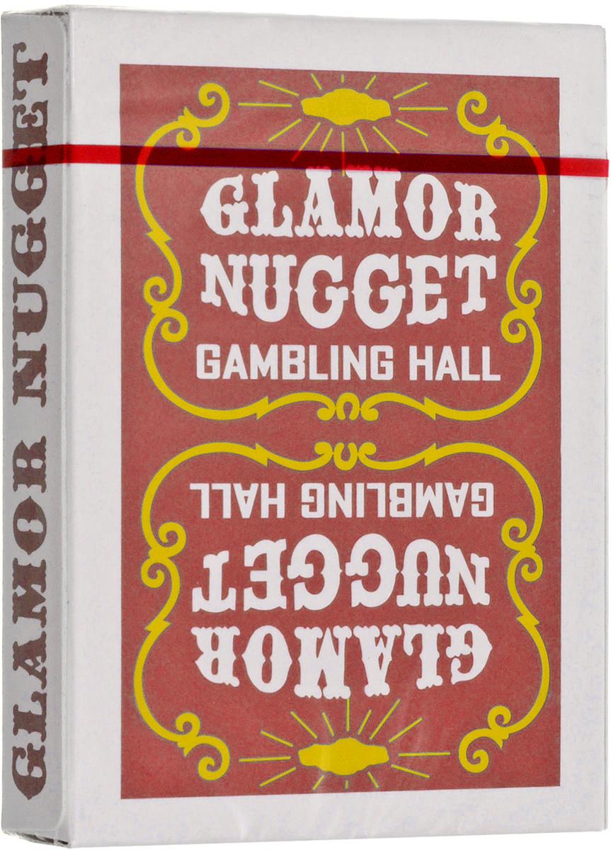 """Карты игральные """"Glamor Nugget"""", цвет: бордовый #1"""