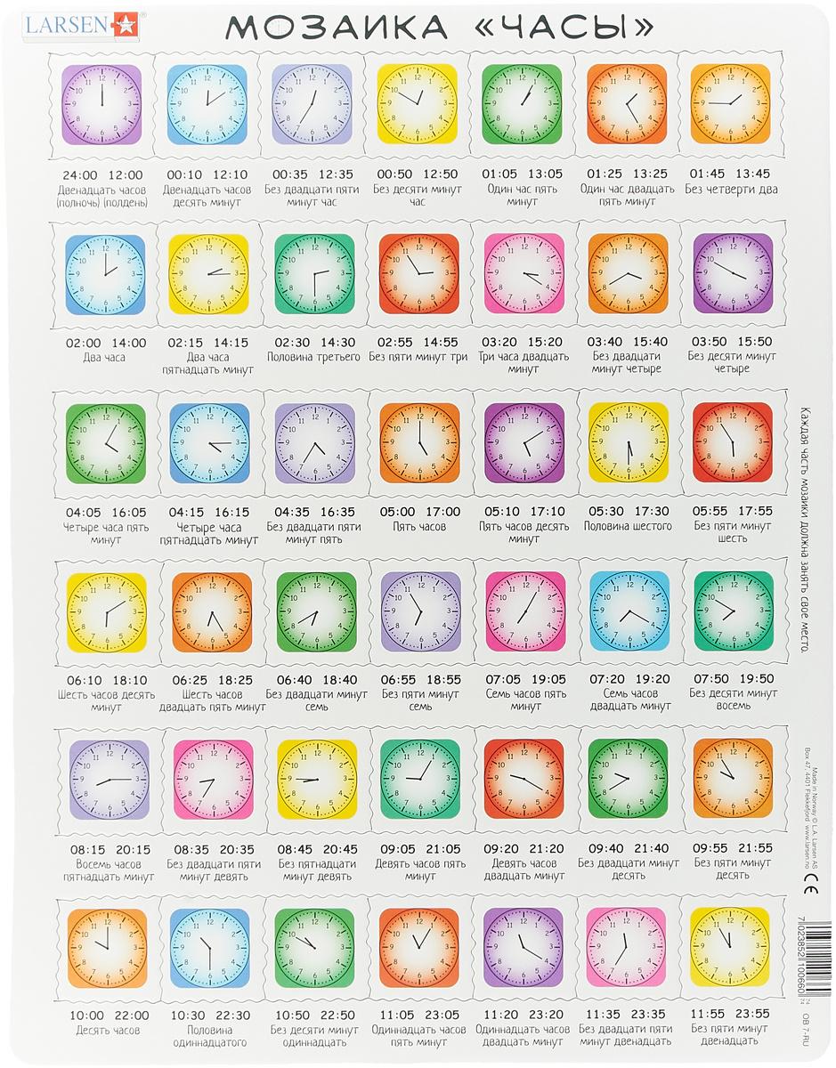 Larsen Пазл Часы, цвет: салатовый #1