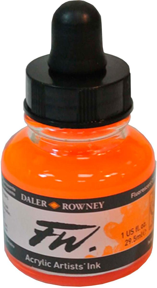 Daler Rowney Чернила акриловые Fw Artists цвет оранжевый 29,5 мл #1
