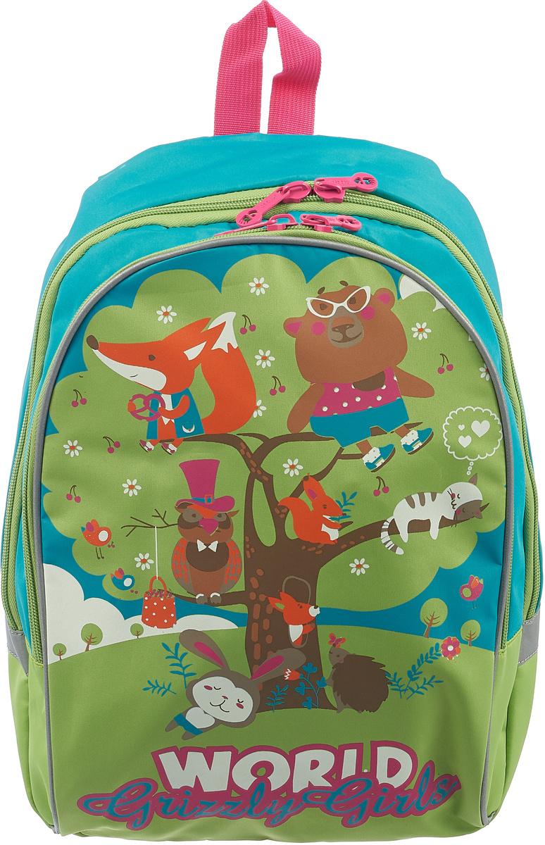 Grizzly Рюкзак детский цвет бирюзовый салатовый #1