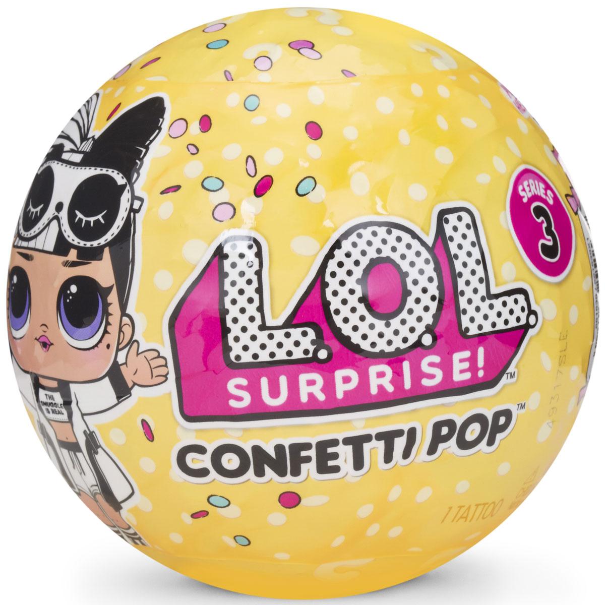 Кукла в шарике L.O.L. Surprise! Конфетти/Confetti Pop, 551515 #1