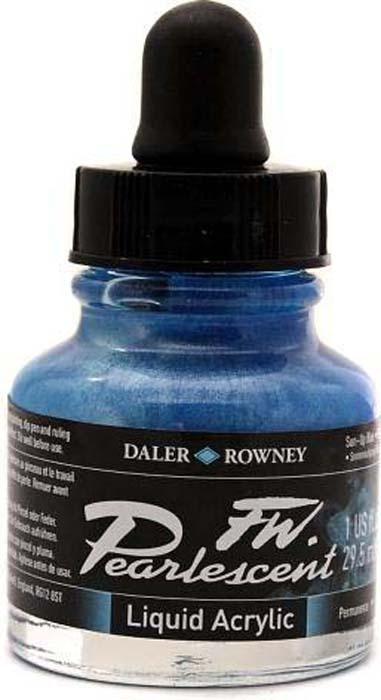 Daler Rowney Чернила перламутровые Fw Artists цвет синий 29,5 мл #1