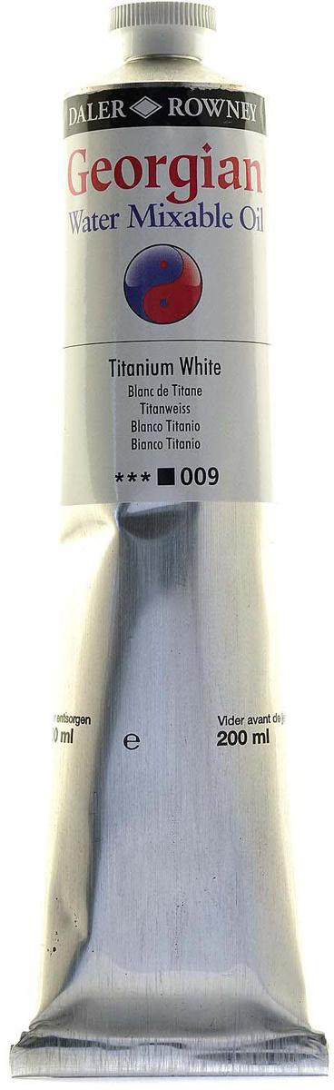 Daler Rowney Краска масляная водоразмываемая Georgian цвет белила титановые, 200 мл  #1
