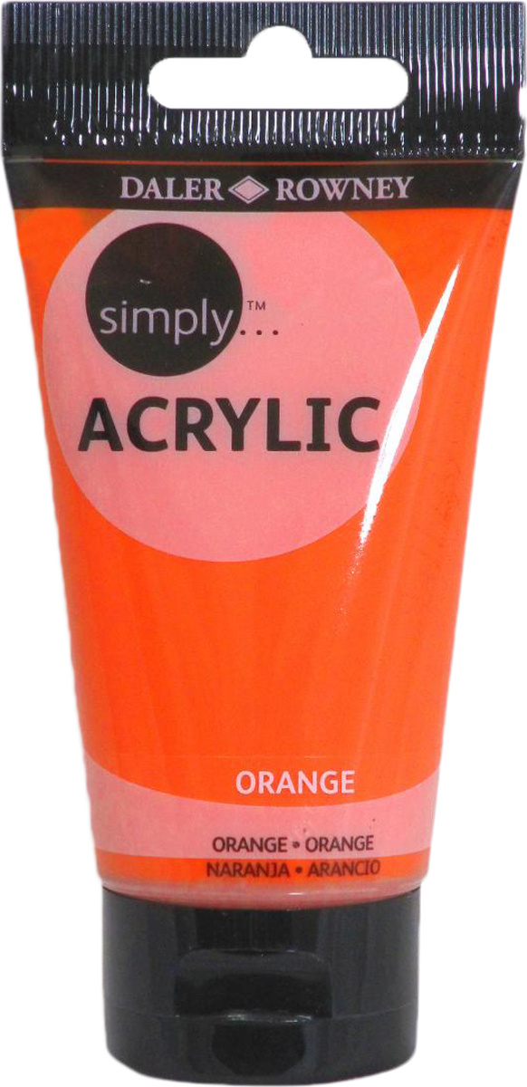 Daler Rowney Краска акриловая Simply цвет оранжевый 75 мл #1