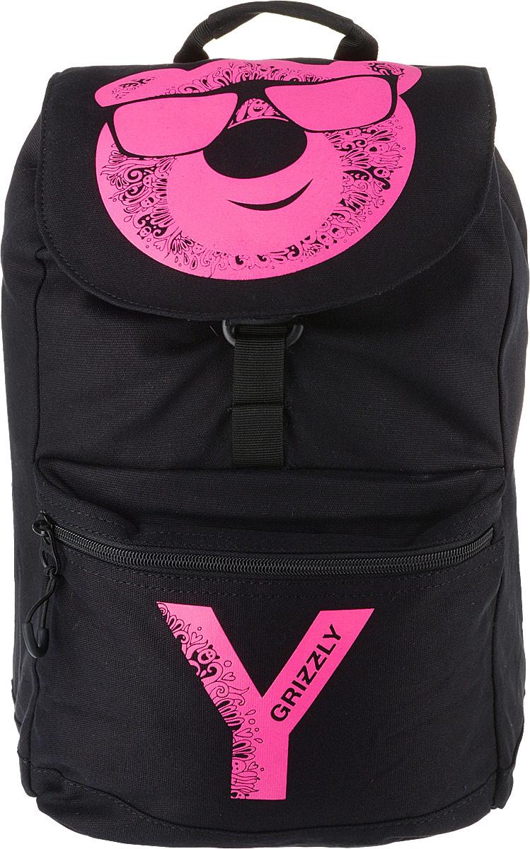 de606fab4c80 Grizzly Рюкзак цвет черный розовый RD-744-1/4 — купить в интернет-магазине  OZON.ru с быстрой доставкой