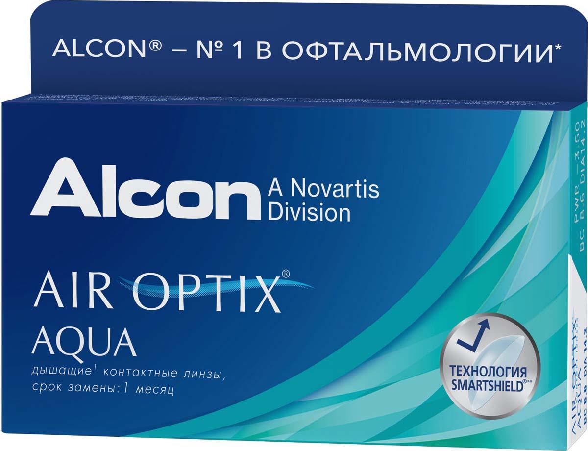 Контактные линзы Alcon Air Optix Aqua Ежемесячные, -2.00 / 14,2 / 8.6, 3 шт.  #1