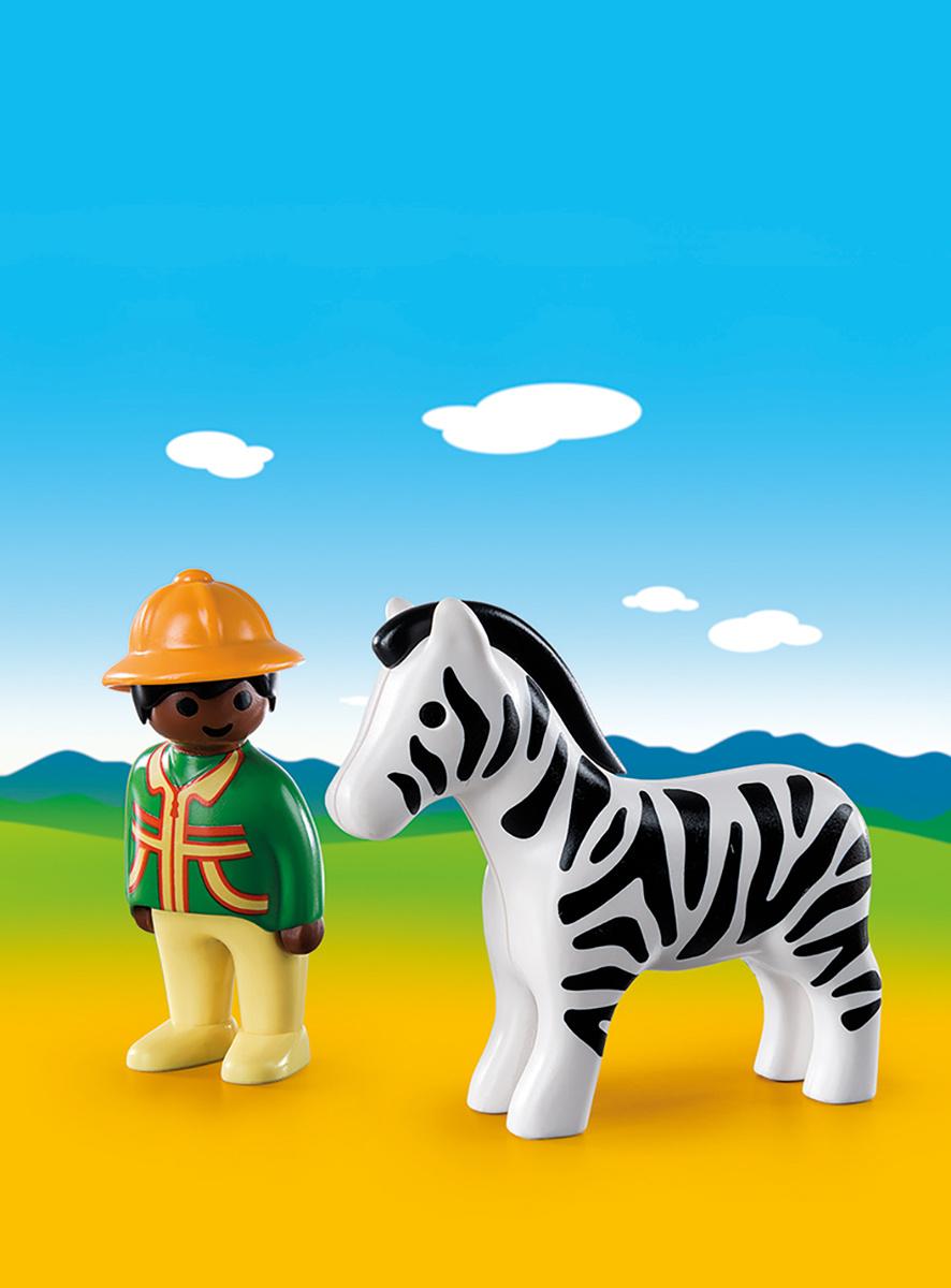 Playmobil Игровой набор Следопыт с зеброй #1