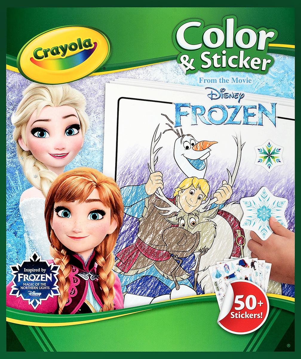 Crayola Раскраска Холодное сердце с наклейками — купить в ...