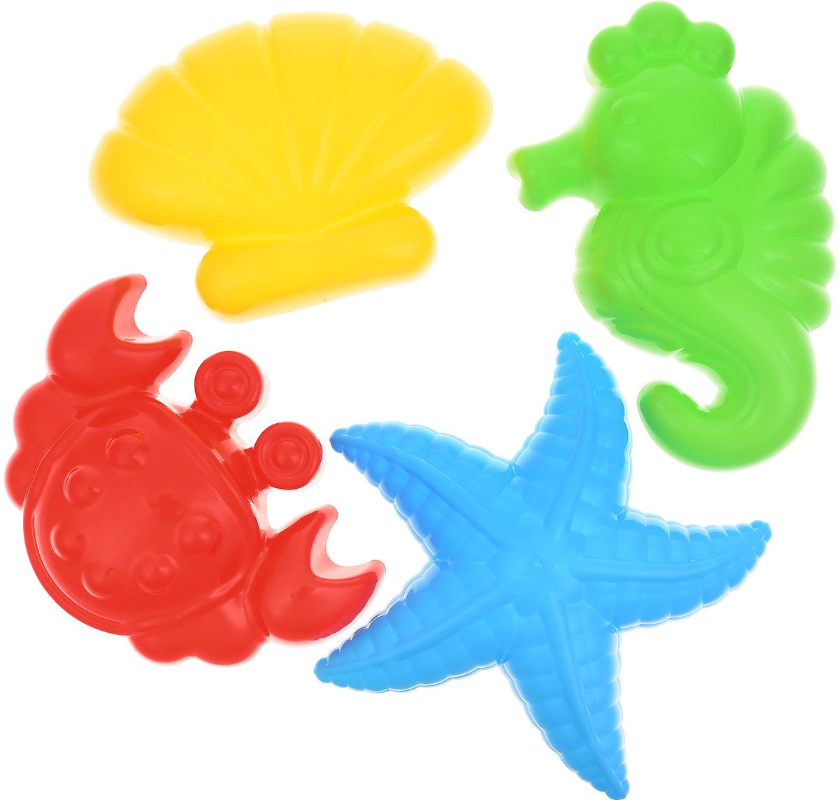 Полесье Игрушка для песочницы Формочки 4 шт 53831, цвет в ассортименте  #1