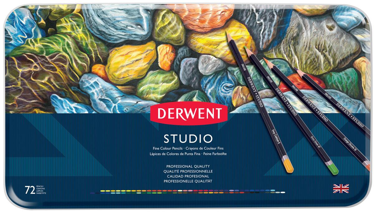 Derwent Набор цветных карандашей Studio 72 цвета 32201 #1