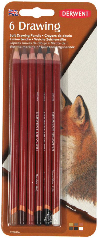 Derwent Набор цветных карандашей Drawing 6 цветов 0700476 #1