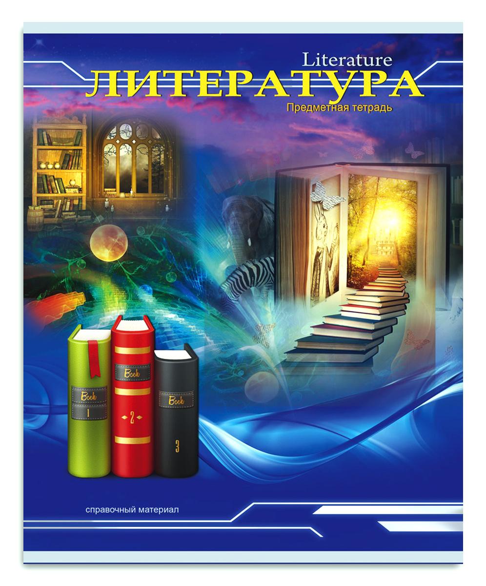 Profit Тетрадь Трехмерное пространство Литература 36 листов в линейку  #1