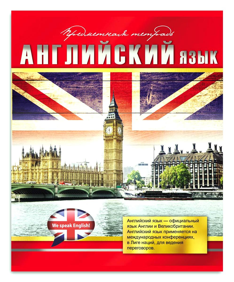 Profit Тетрадь Красный стиль Английский язык 48 листов в клетку  #1