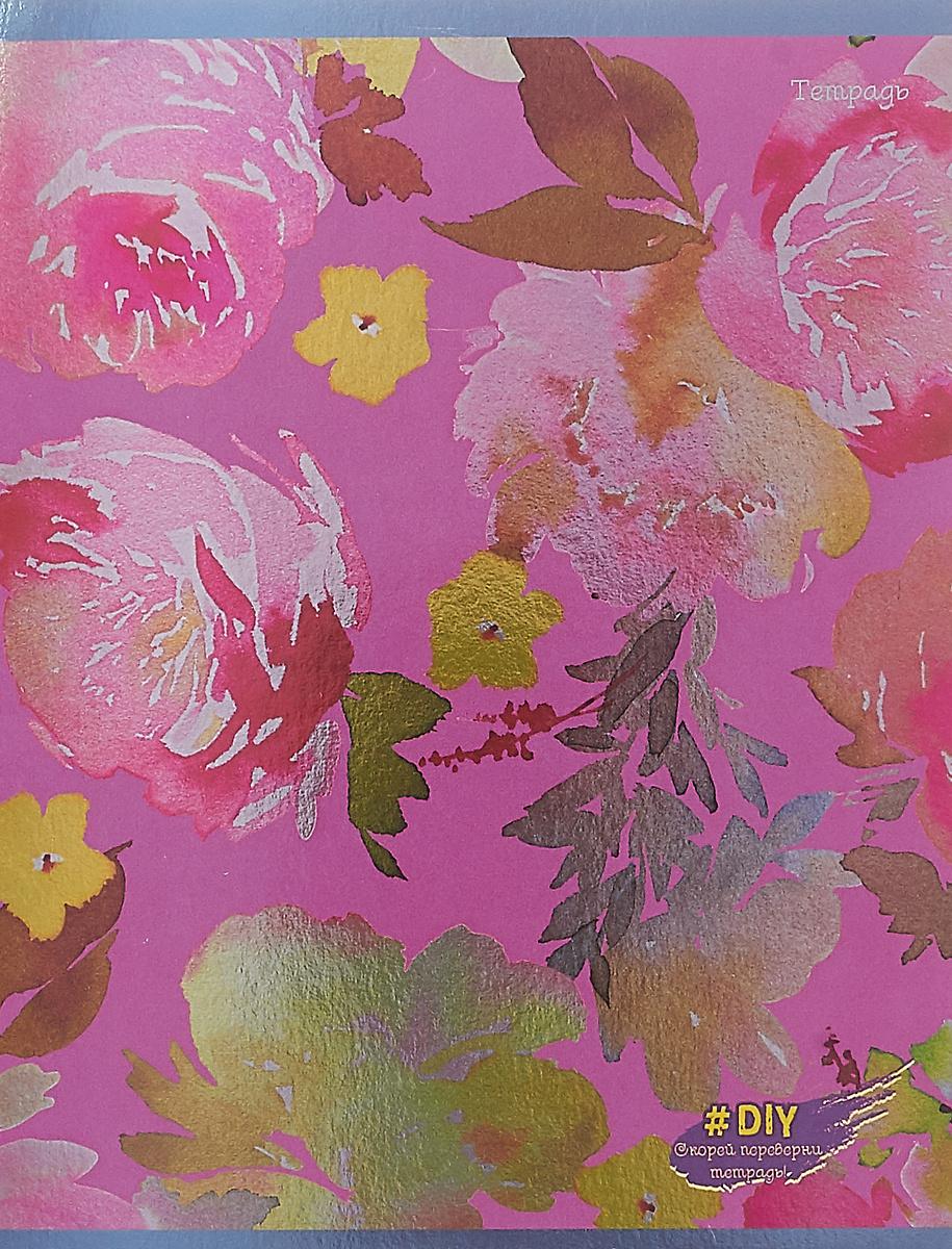 Unnika Land Тетрадь DIY Collection Цветочное великолепие 48 листов в клетку цвет фиолетовый  #1