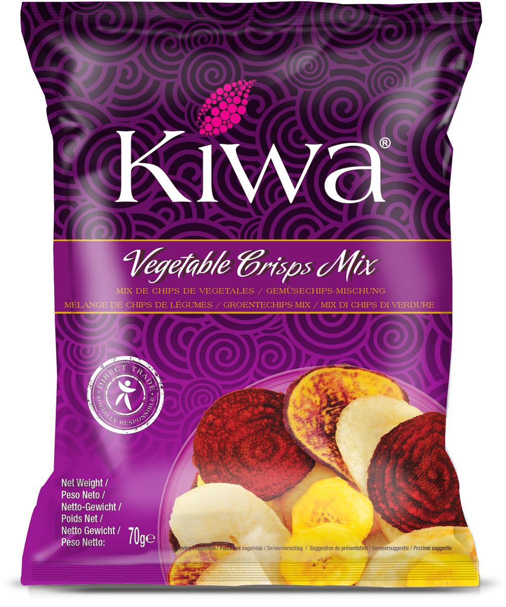 Kiwa ассорти овощных чипсов, 70 г #1