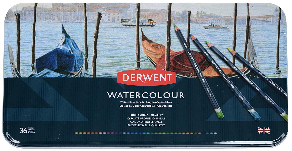 Derwent Набор акварельных карандашей Watercolour 36 цветов #1