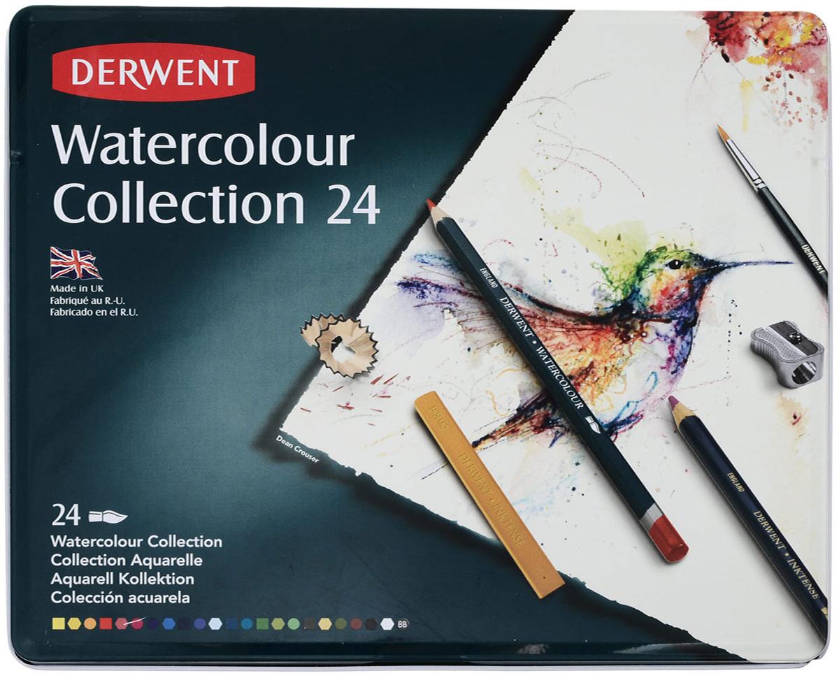 Derwent Набор карандашей Watercolour Collection 24 цвета #1