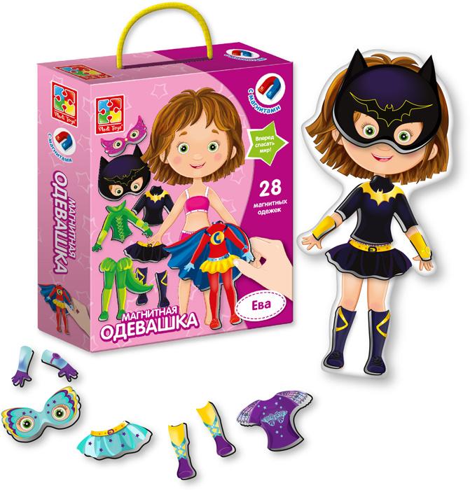 Магнитная игра кукла - одевашка с одеждой и аксессуарами Vladi Toys Ева, VT3702-04  #1