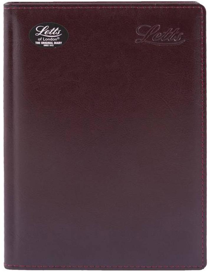 Ежедневник Letts Global Deluxe, недатированный, цвет: бордовый, A5, 208 листов в линейку  #1
