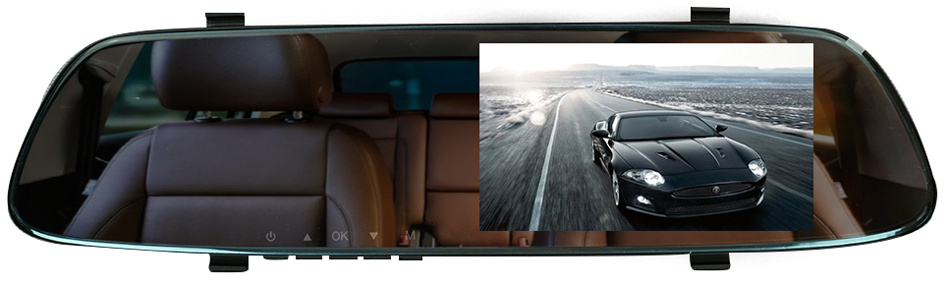Автомобильный видеорегистратор-зеркало с двумя камерами Slimtec Dual M5  #1