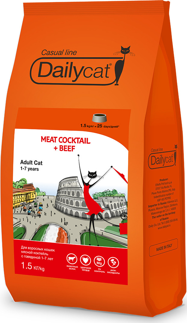 a90722d48 Корм сухой Daily Cat Casual Line