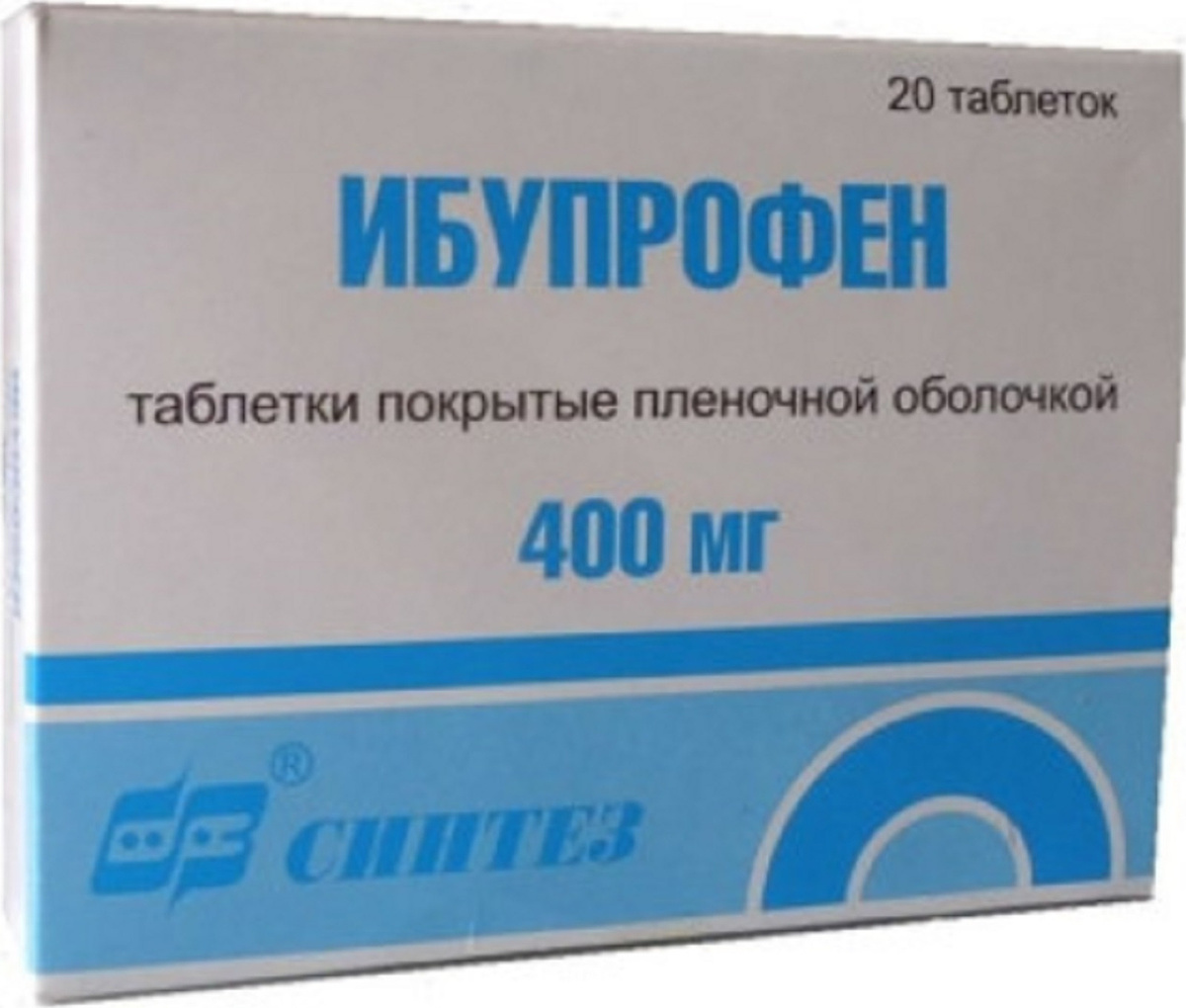 Ибупрофен таб. п/о плен. 400 мг №20 #1