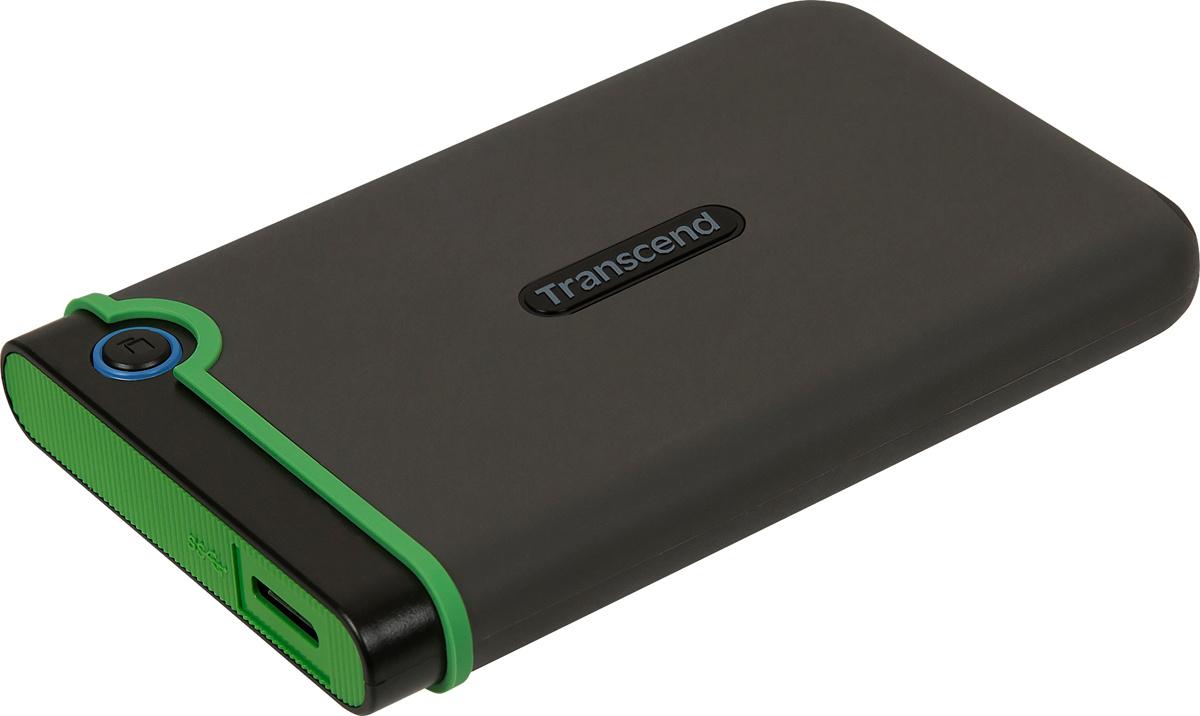 2 ТБ Внешний жесткий диск Transcend StoreJet 25M3S (TS2TSJ25M3S), светло-зеленый, темно-серый  #1
