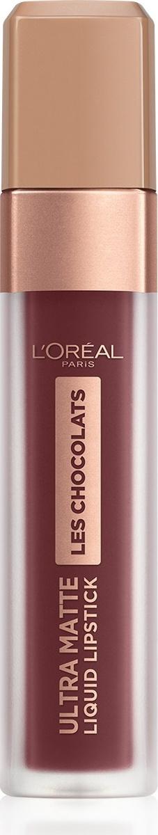 Помада для губ L'Oreal Paris Les Chocolats, жидкая, матовая, оттенок 868, цвет: шоколадный брауни  #1