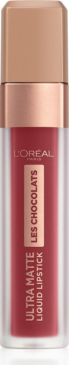 Помада для губ L'Oreal Paris Les Chocolats, жидкая, матовая, оттенок 864, цвет: клубника в шоколаде  #1