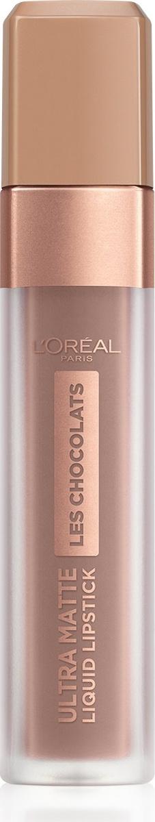 Помада для губ L'Oreal Paris Les Chocolats, жидкая, матовая, оттенок 848, цвет: какао по-французски  #1