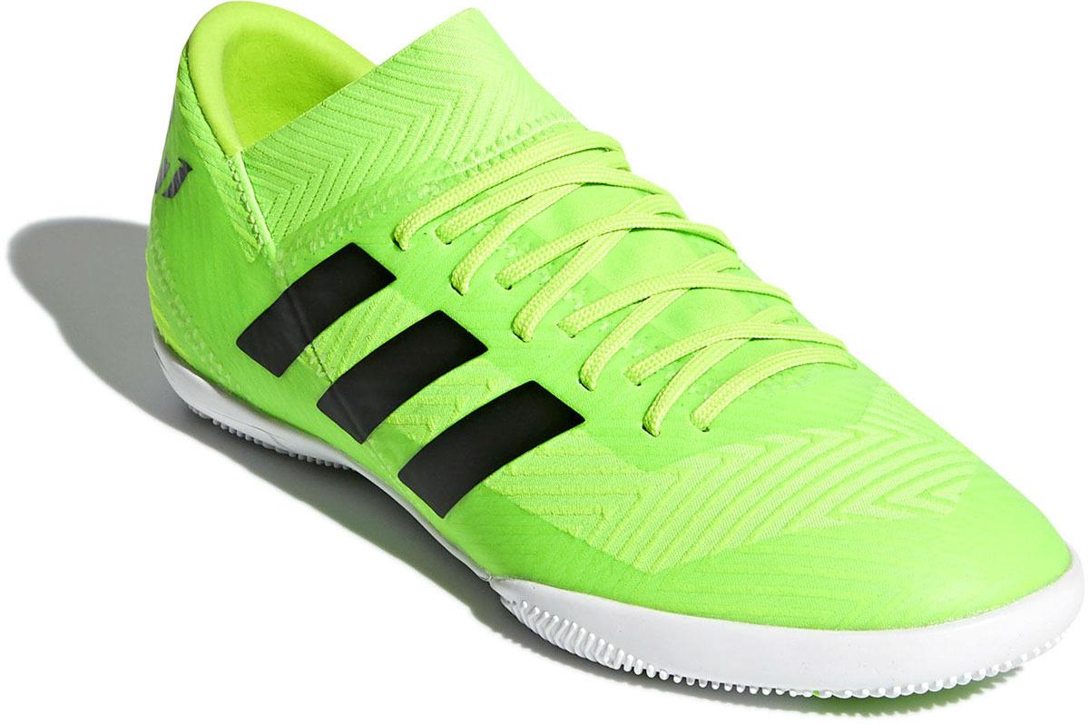 caaec864 Бутсы для футзала для мальчика Adidas Nemeziz Messi Tango 18.3 In J, цвет:  салатовый. DB2392. Размер 33 (31) — купить в интернет-магазине OZON с  быстрой ...